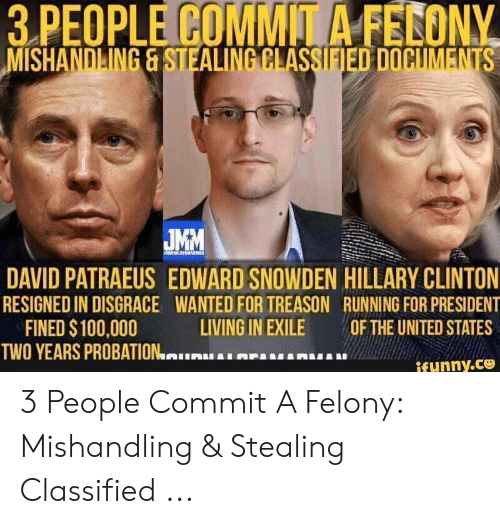 3 PEOPLE COMMIT a FECONY MISHANDLING&STEALING CLASSIFIED