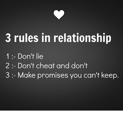 Rules of cheating in a relationship