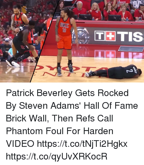 3 The Tis Patrick Beverley Gets Rocked By Steven Adams Hall Of Fame