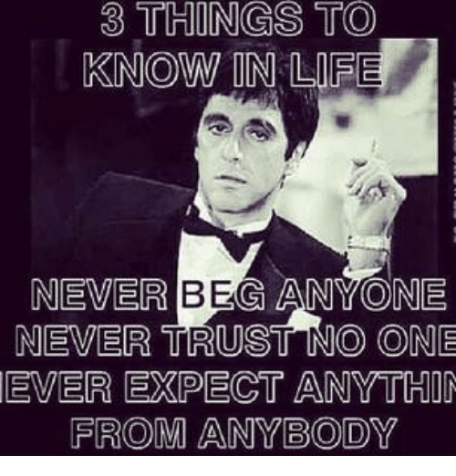 Never Trust No One
