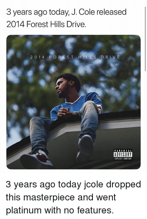 a4f945f908 3 Years Ago Today J Cole Released 2014 Forest Hills Drive 2 ...