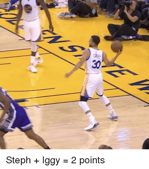Sports and Steph: 30  2; Steph + Iggy = 2 points