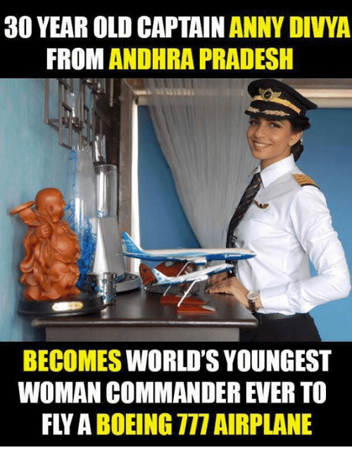 30 year old captain anny divya from andhra pradesh becomes What to buy a 30 year old woman