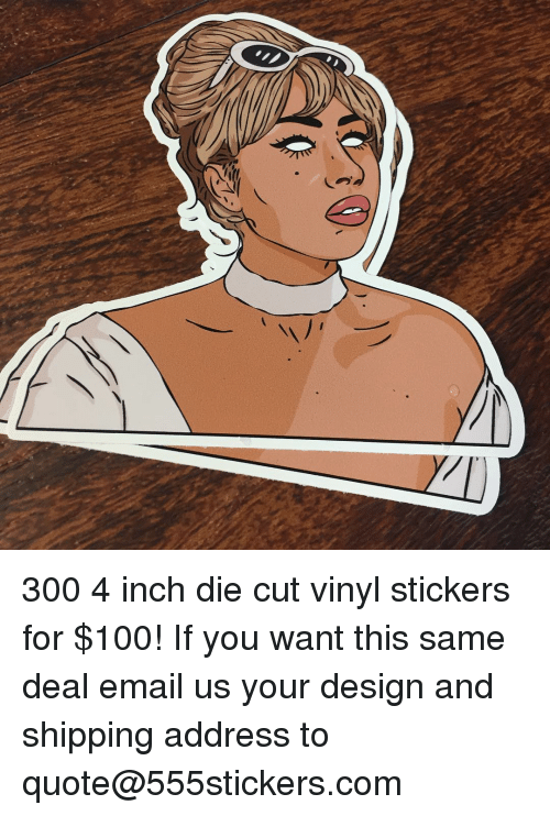 Anaconda memes and email 300 4 inch die cut vinyl stickers for 100