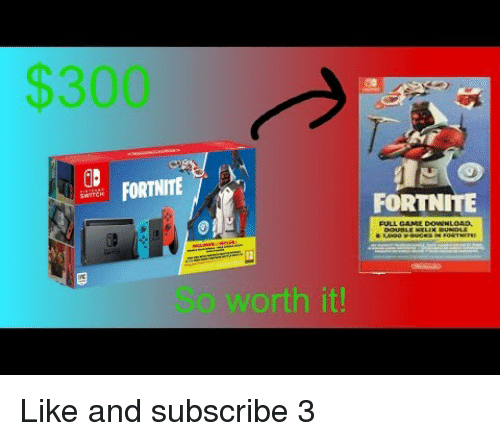 Like and subscribe fortnite