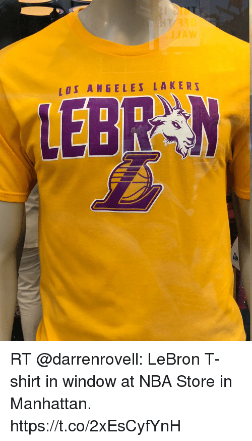 online store 84851 0e88a 310 AW LEI ANGELES LAKER! LEBRN RT LeBron T-Shirt in Window ...