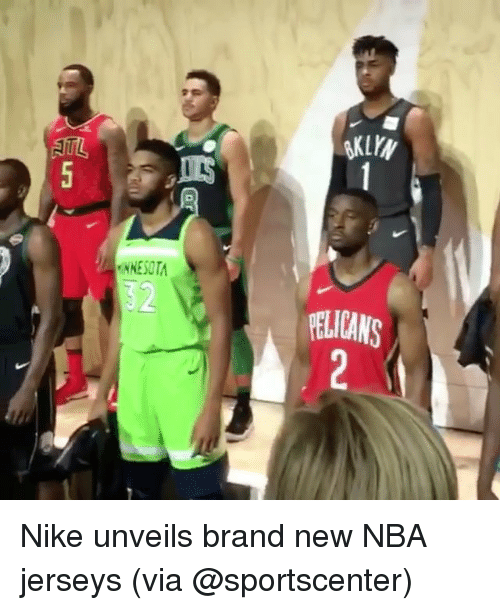 Memes, Nba, and Nike: 32  ELICANS Nike unveils brand new NBA jerseys (via @sportscenter)
