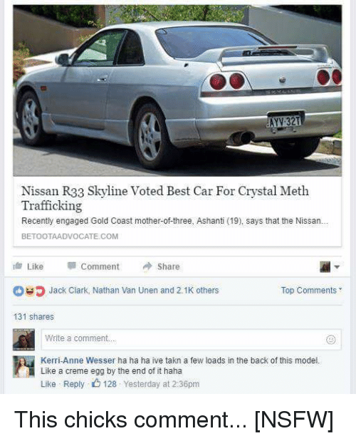 Cars, Funny, And Nsfw: 321 Nissan R33 Skyline Voted Best Car For Crystal