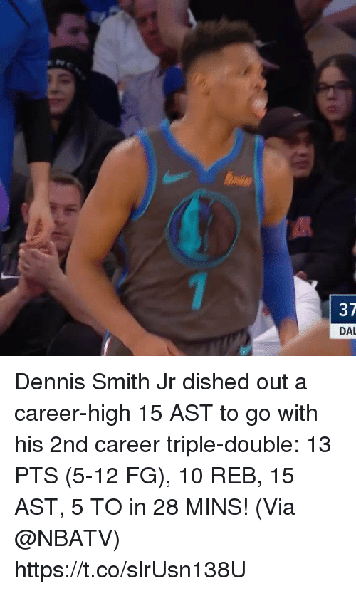 37 DAL Dennis Smith Jr Dished Out a Career-High 15 AST to Go
