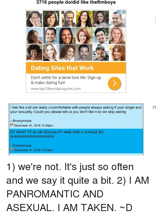 Dating sites asexuals
