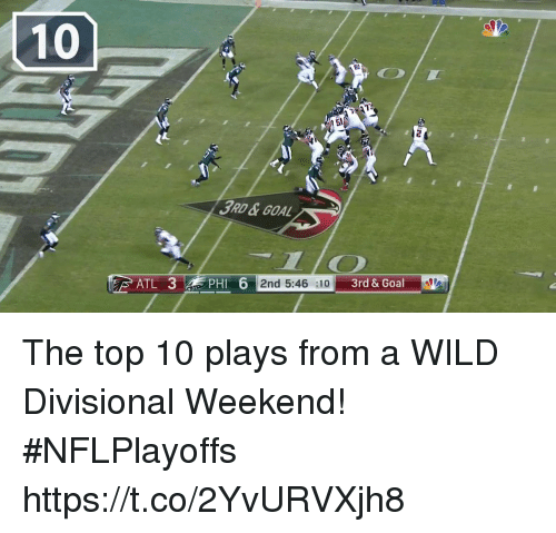 Memes, Wild, and 🤖: 3AD&GOA  DHI  6 2nd 5:46 :10 The top 10 plays from a WILD Divisional Weekend!   #NFLPlayoffs https://t.co/2YvURVXjh8
