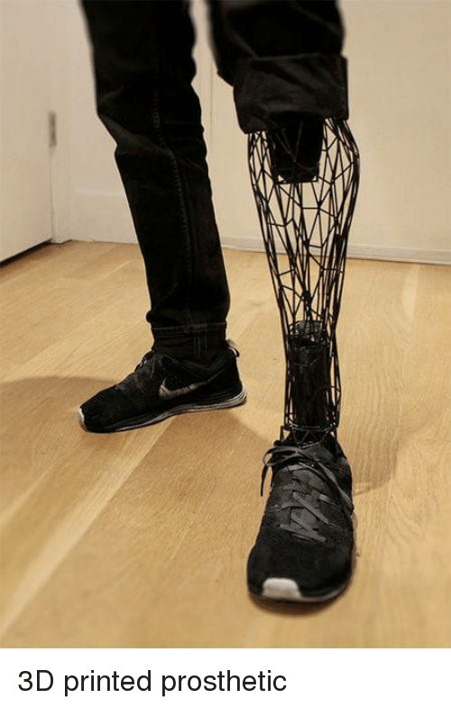 3D Printed, Prosthetic, and Printed: 3D printed prosthetic