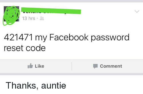 3hrs 421471 My Facebook Password Reset Code Like Comment
