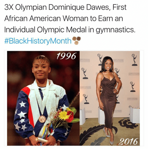 Memes, Gymnastics, and Individualism: 3X Olympian Dominique Dawes, First  African American Woman to Earn an  Individual Olympic Medal in gymnastics  HEBlackHistoryMonth  1996  CADEM  2016