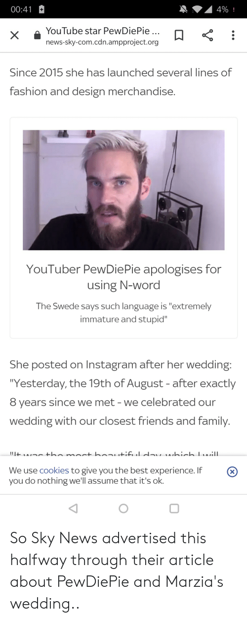 4%! 0041 YouTube Star PewDiePie News-Sky-Comcdnampprojectorg