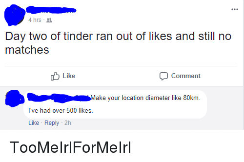 tinder out of likes