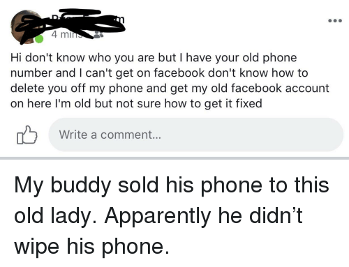 4 Mi Hi Don't Know Who You Are but I Have Your Old Phone