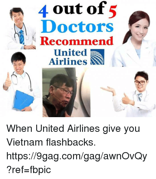 9gag, Dank, and United: 4 out 5 of Doctors Recommend A United Airlines