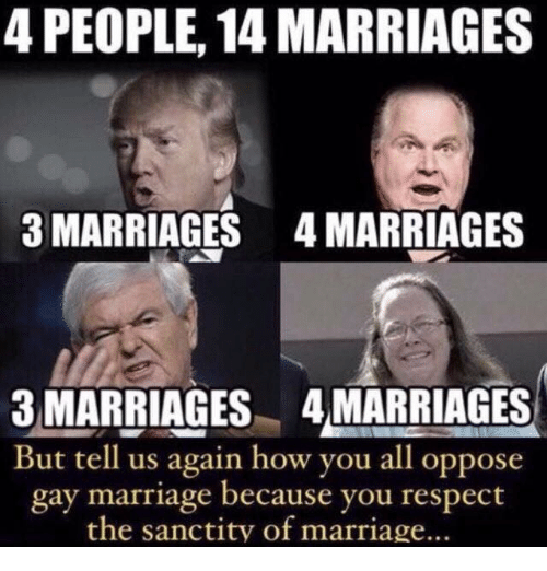 oppose to gay marriage