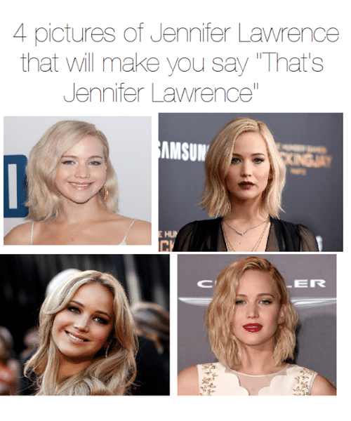 """Jennifer Lawrence, Memes, and Pictures: 4 pictures of Jennifer Lawrence  that Will make you say That's  Jennifer Lawrence""""  EMMSUN  EIR"""