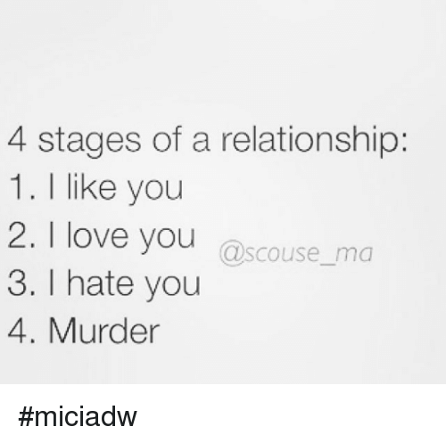 the stages of love in relationships