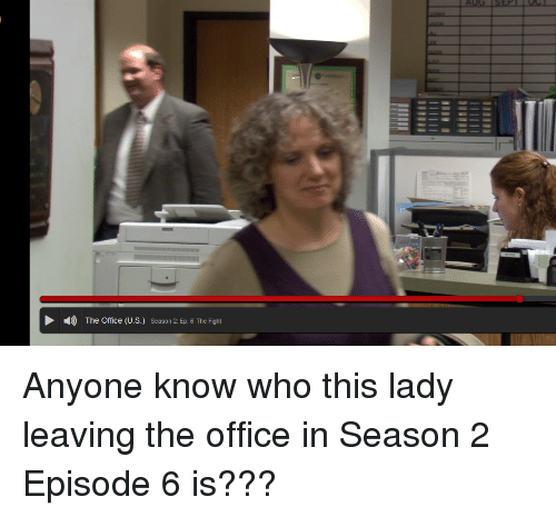 4 the Office US Season 2 Ep 6 the Fight Anyone Know Who This