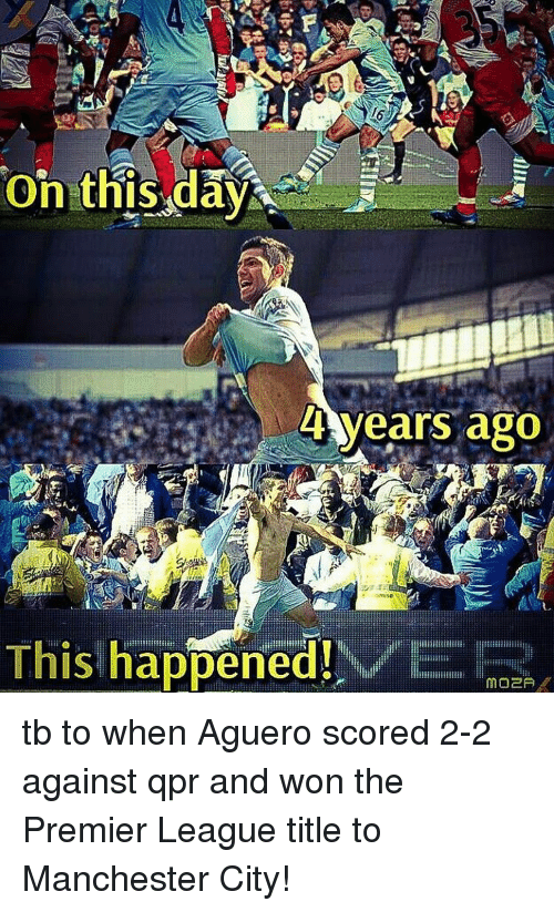 cb8f1c8d6d6 4 Years Ago This Happened! VER Tb to When Aguero Scored 2-2 Against ...