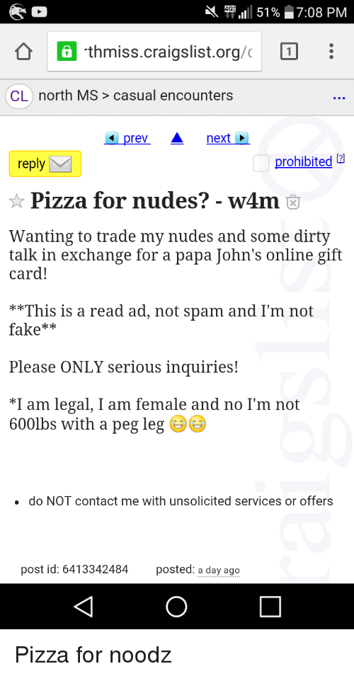 Craigslist north mississippi personals