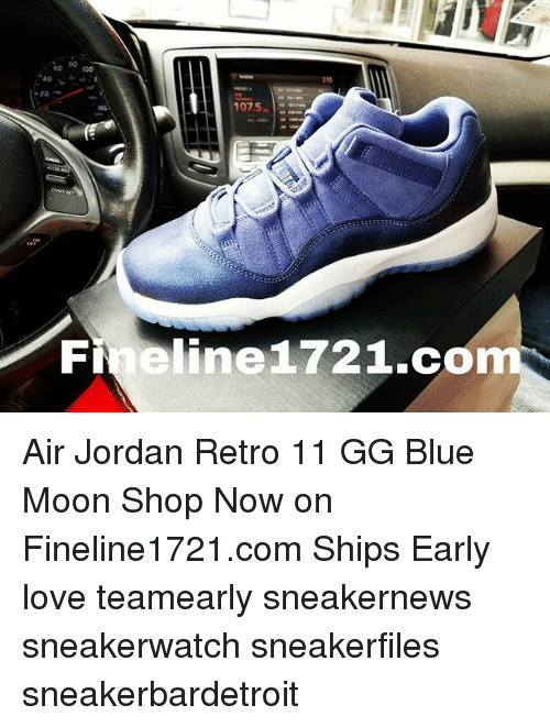 740fac8fc 40 -20 1075 Fineline 172 1co Air Jordan Retro 11 GG Blue Moon Shop ...