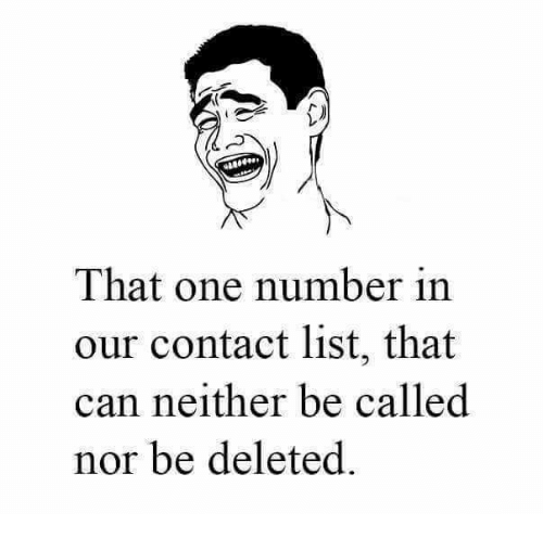 Memes, 🤖, and Can: 418  That one number in  our contact list, that  can neither be called  nor be deleted.
