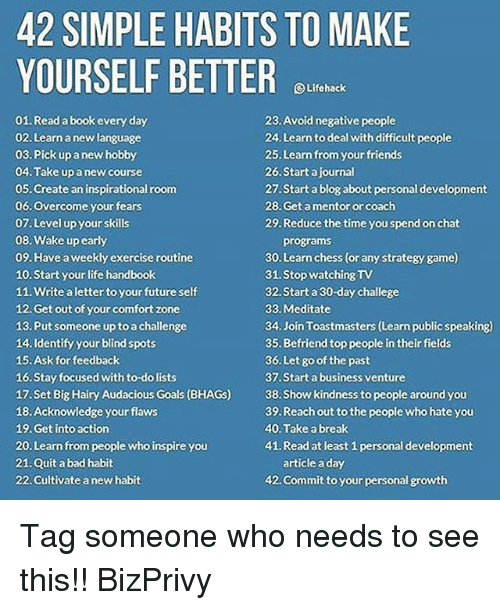 42 simple habits to make yourself better lifehack 01 read book every
