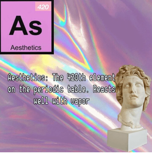 420 as aesthetics aesthetics the l20th element on the periodic table period aesthetic and dank memes 420 as aesthetics aesthetics the l20th element on urtaz Gallery