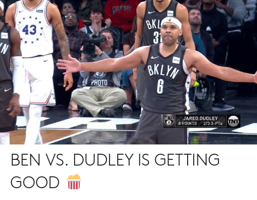 Good, Jared, and Photo: 43:  PHOTO  ETS JARED DUDLEY  8 POINTS 2/3 3-PTs ND BEN VS. DUDLEY IS GETTING GOOD 🍿