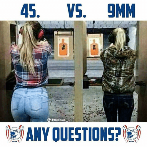 45 VS 9MM Asf ANY OUESTIONS? | Meme on ME ME