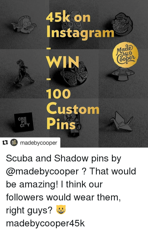 45k on Instagram WIN 100 Custom CRE Pins CI Y Tu Made by Cooper