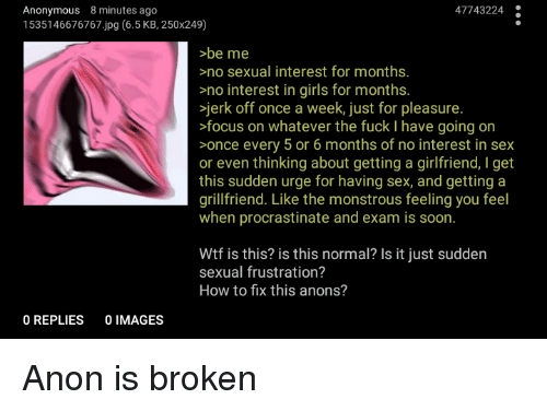 No sex for 8 months