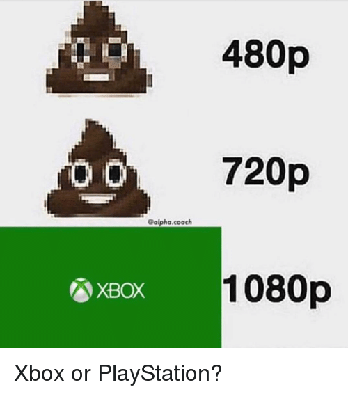 Memes, PlayStation, and Xbox: 480p  720p  1080p  Balpha.coach  XBOX Xbox or PlayStation?