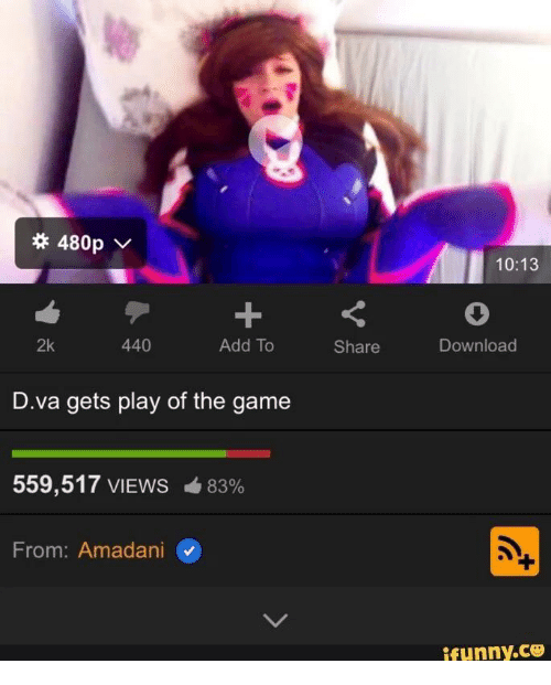 D.va gets play of the game porn