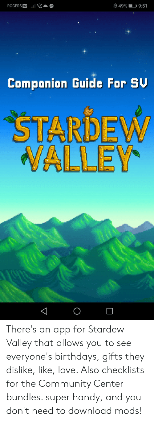 49% ROGERS HD 951 Componion Guide for SU STARDEW WALLEY