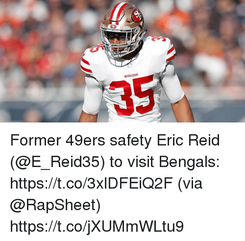 02643f6825a 49ERS 35 Former 49ers Safety Eric Reid to Visit Bengals ...