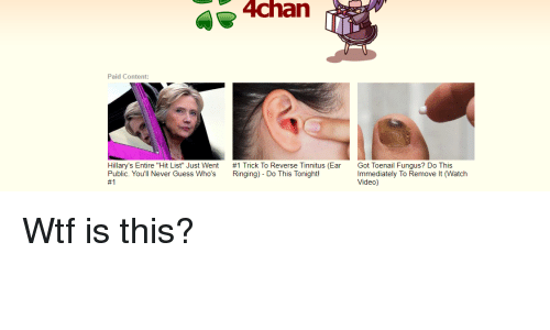 4chan paid content hilary s entire hit list just went 1 trick to