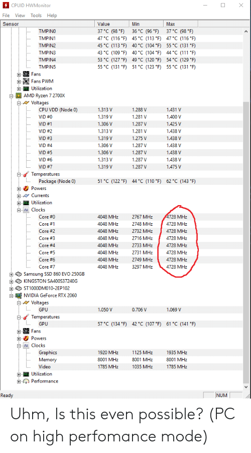 4CPUID HWMonitor File View Tools Help Value 37 C 98 °F 36 °C
