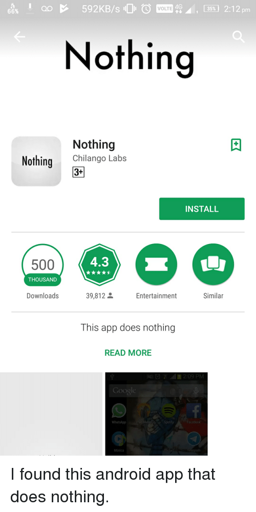 4G 35% 212 Pm VOLTE 66% Nothing Nothing NothingChilango Labs