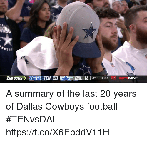 Dallas Cowboys, Football, and Sports: 4TH 3:48 37 ErIMNF A summary of the last 20 years of Dallas Cowboys football #TENvsDAL https://t.co/X6EpddV11H