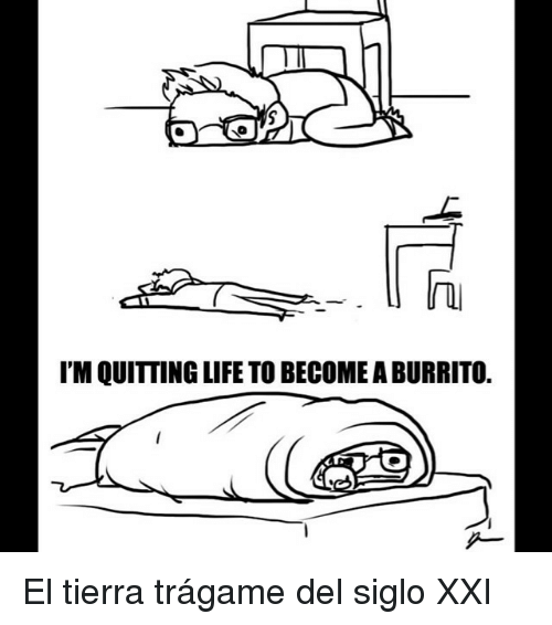 5 0 I'M QUITTING LIFE TO BECOME a BURRITO <p>El Tierra