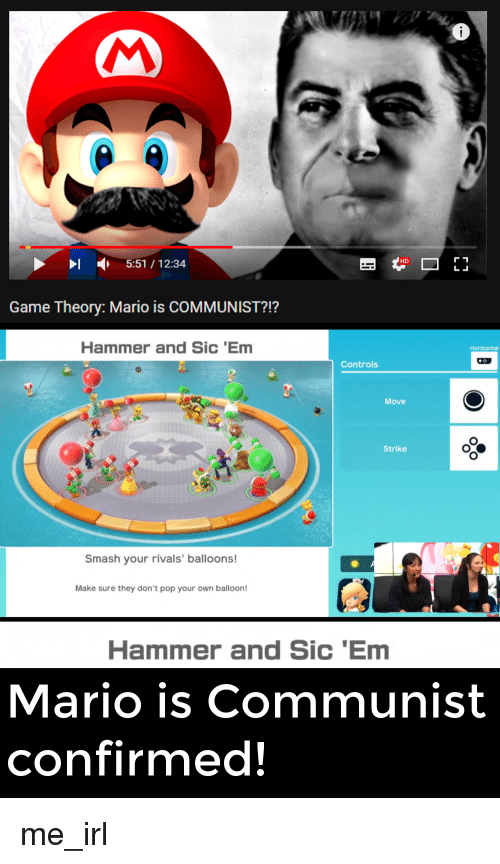 5511234 hd game theory mario is communist hammer and sic em