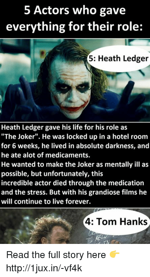 5 actors who gave everything for their role 5 heath ledger heath