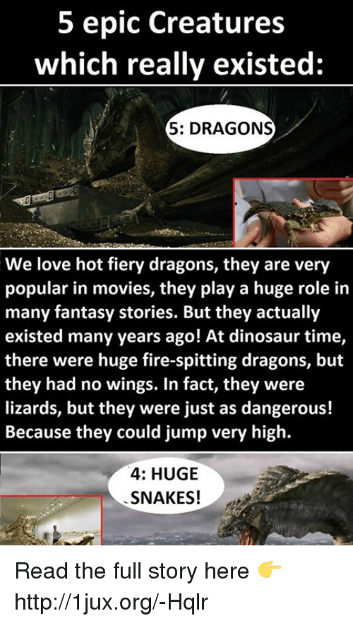 5 Epic Creatures Which Really Existed 5 DRAGONS We Love Hot Fiery