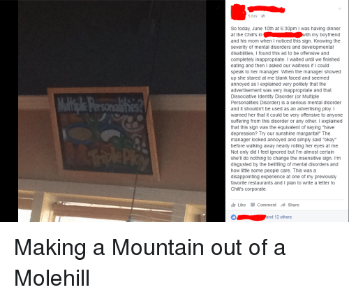 make a mountain out of a molehill Shop perspective - make a mountain out of a molehill t-shirt created by solamente personalize it with photos & text or purchase as is.