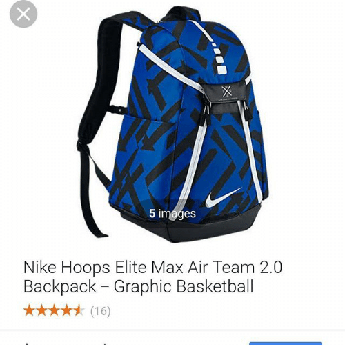 995bb53e60 5 Images Nike Hoops Elite Max Air Team 20 Backpack - Graphic ...
